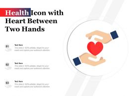 Health Icon With Heart Between Two Hands