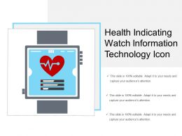 Health Indicating Watch Information Technology Icon