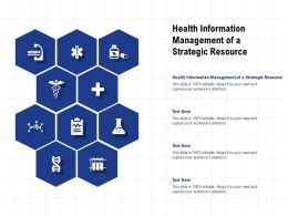 Health Information Management Of A Strategic Resource Ppt Powerpoint Presentation Professional Graphics Download
