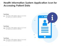 Health Information System Application Icon For Accessing Patient Data