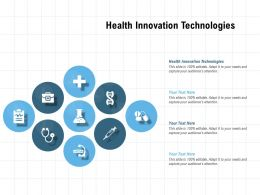 Health Innovation Technologies Ppt Powerpoint Presentation Professional Background Image
