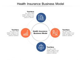 Health Insurance Business Model Ppt Powerpoint Presentation Pictures Rules Cpb