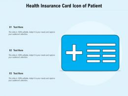 Health Insurance Card Icon Of Patient