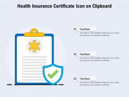 Health Insurance Certificate Icon On Clipboard