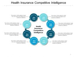 Health Insurance Competitive Intelligence Ppt Powerpoint Presentation Portfolio Designs Download Cpb