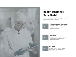 Health Insurance Data Model Ppt Powerpoint Presentation Show Styles Cpb