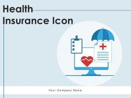Health Insurance Icon Document Certificate Premium Safety Symbol