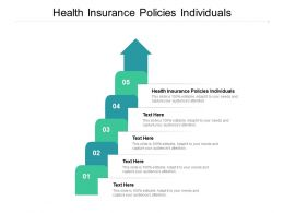 Health Insurance Policies Individuals Ppt Powerpoint Presentation Layouts Show Cpb