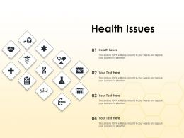 Health Issues Ppt Powerpoint Presentation File Icons