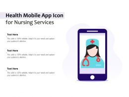 Health Mobile App Icon For Nursing Services
