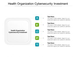 Health Organization Cybersecurity Investment Ppt Powerpoint Presentation Visual Aids Example File Cpb