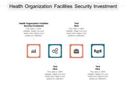 Health Organization Facilities Security Investment Ppt Powerpoint Presentation Gallery Cpb