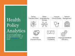 Health Policy Analytics Presentation Portfolio