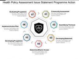 Health Policy Assessment Issue Statement Programme Action