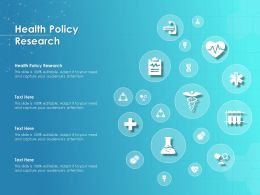 Health Policy Research Ppt Powerpoint Presentation Summary Example