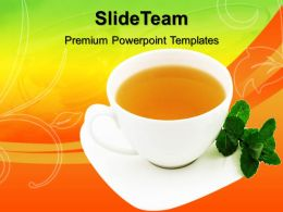 Health Powerpoint Templates Cup Of Tea Graphic Ppt Slide Designs