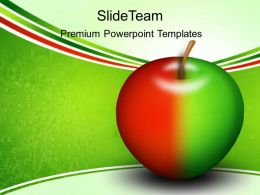 Health Powerpoint Templates Free Colored Apple Education Ppt Slides