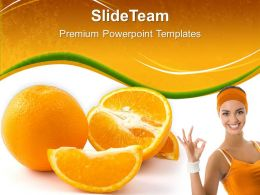 Health Powerpoint Templates Fresh Orange Slices Ppt Slides