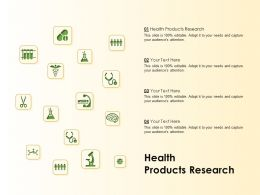 Health Products Research Ppt Powerpoint Presentation Gallery Graphics Download