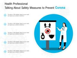 Health Professional Talking About Safety Measures To Prevent Corona