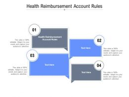 Health Reimbursement Account Rules Ppt Presentation Styles Outfit Cpb