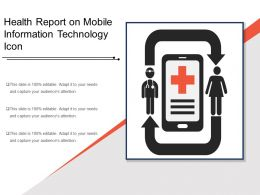Health Report On Mobile Information Technology Icon