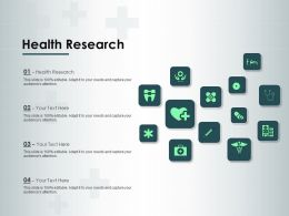 Health Research Ppt Powerpoint Presentation Gallery Deck