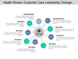 health_review_customer_care_leadership_change_management_information_technology_cpb_Slide01
