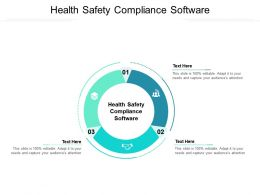 Health Safety Compliance Software Ppt Powerpoint Presentation Icon Diagrams Cpb