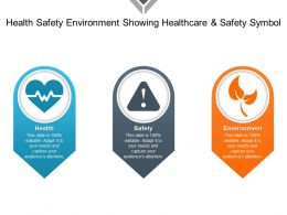Health Safety Environment Showing Healthcare And Safety Symbol