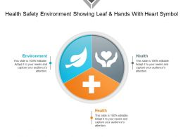Health Safety Environment Showing Leaf And Hands With Heart Symbol