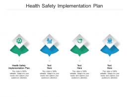 Health Safety Implementation Plan Ppt Powerpoint Presentation File Brochure Cpb