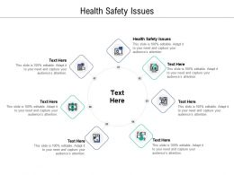 Health Safety Issues Ppt Powerpoint Presentation Ideas Graphics Design Cpb