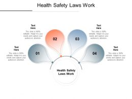 Health Safety Laws Work Ppt Powerpoint Presentation Slides Design Ideas Cpb