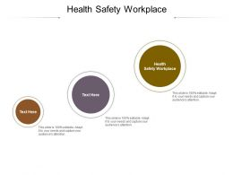 Health Safety Workplace Ppt Powerpoint Presentation Layouts Layout Ideas Cpb
