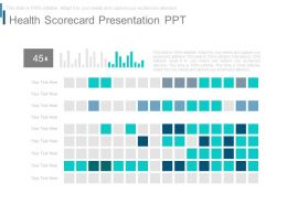 Health Scorecard Presentation Ppt
