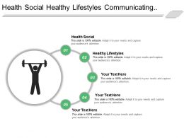 Health Social Healthy Lifestyles Communicating Connecting Strategy Goals