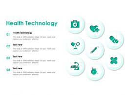 Health Technology Ppt Powerpoint Presentation Professional Example