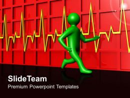 Health Templates For Powerpoint Pulse Rate Diagram Ppt Slide Designs