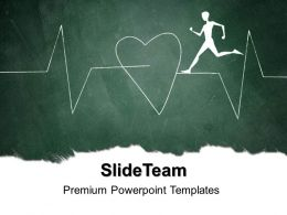 Health Templates For Powerpoint Showing Heart Beat Image Ppt Slide