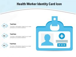 Health Worker Identity Card Icon