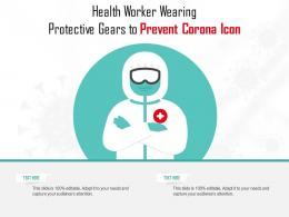 Health Worker Wearing Protective Gears To Prevent Corona Icon