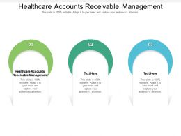 Healthcare Accounts Receivable Management Ppt Powerpoint Presentation Layouts Cpb