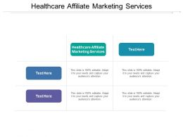 Healthcare Affiliate Marketing Services Ppt Powerpoint Presentation Gallery Graphic Tips Cpb