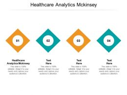 Healthcare Analytics Mckinsey Ppt Powerpoint Presentation Styles Grid Cpb