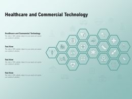 Healthcare And Commercial Technology Ppt Powerpoint Presentation Layouts Graphics