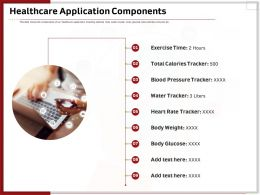 Healthcare Application Components Ppt Powerpoint Presentation
