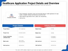 Healthcare Application Project Details And Overview Details Ppt Templates