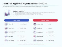 Healthcare Application Project Details And Overview Estimated Time Ppt Gallery
