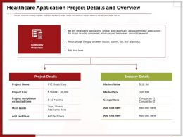 Healthcare Application Project Details And Overview Ppt Topics